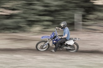 Panning shot of my older brother.